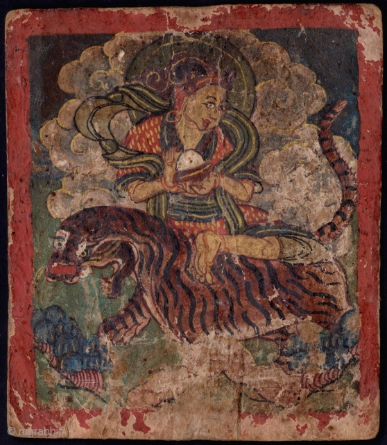 Early pair of Tibetan or Mongolian Buddhist tsakli. 