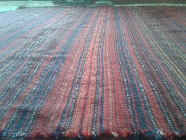 In good condition flexible kurdish jajim from Iran. Belongs to the first half of 20th century. wool on wool 160*110 cm