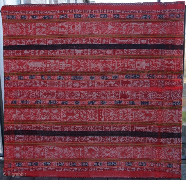 Peruvian Manta from Cuzco.
