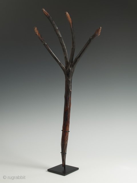 "Dung rake, Bhutan. 21"" (53.4) high. Early to mid 20th century