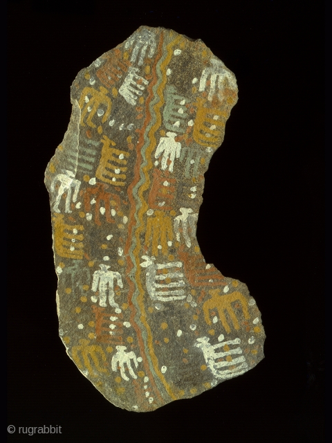 Large stone pictograph,