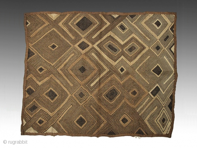 Flat stitch raffia panel,