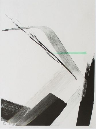 """""""Arrived Wind"""" print by Toko Shinoda Japanese lithograph print by Toko Shinoda (born 1913) entitled """"Arrived Wind"""". Signed in pencil. Undated. Edition number 27 of 35. Frame: 33"""" high x 27"""" wide Inside  ..."""