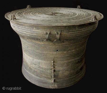 Luang Prabang Period Laos Bronze Rain Drum