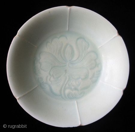 Antique Chinese Qingbai Foliate Dish