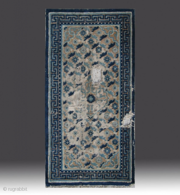 """No.A0057 * Chinese Ningxia Rug(Fragments), Age:Late-18th Century. Size:68x134cm(2'3""""x4'5""""). Origin:Ningxia Shape:Rectangle. Background Color:Camels."""
