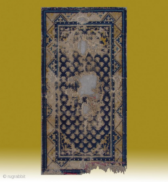 "No.A0058 * Chinese Ningxia ""Footprint of the Frog"" Rugs(Fragments),