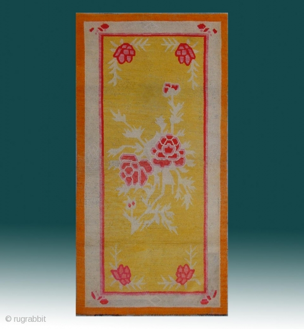 "No.X0024 * Tibetan Antique Khaden Rug.  Origin: Tibet. Size:98x190cm(3'3""x6'3""). 