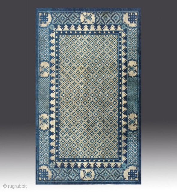 No.R114 * Chinese Antique Carpet ,Origin: Baotou-Suiyuan. Age: Early-19th Century.