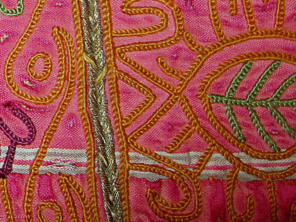 A Beautiful Silk Embroidered Katawaz Hanging From Ghazni