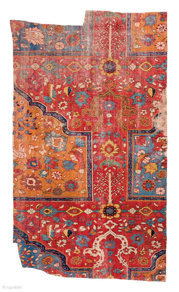 Lot 157 Khorasan Fragment Of A Saf Prayer Carpet East