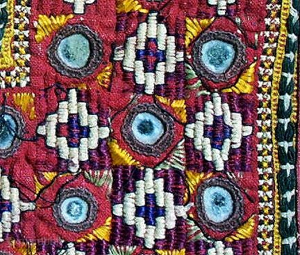 Old Banjara Or Thar Desert Indian Textile Square Perhaps