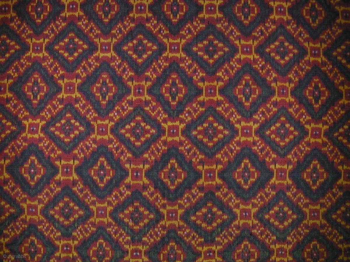 Cambodian Silk Ikat Sampot Hol Circa 1900 Very Good