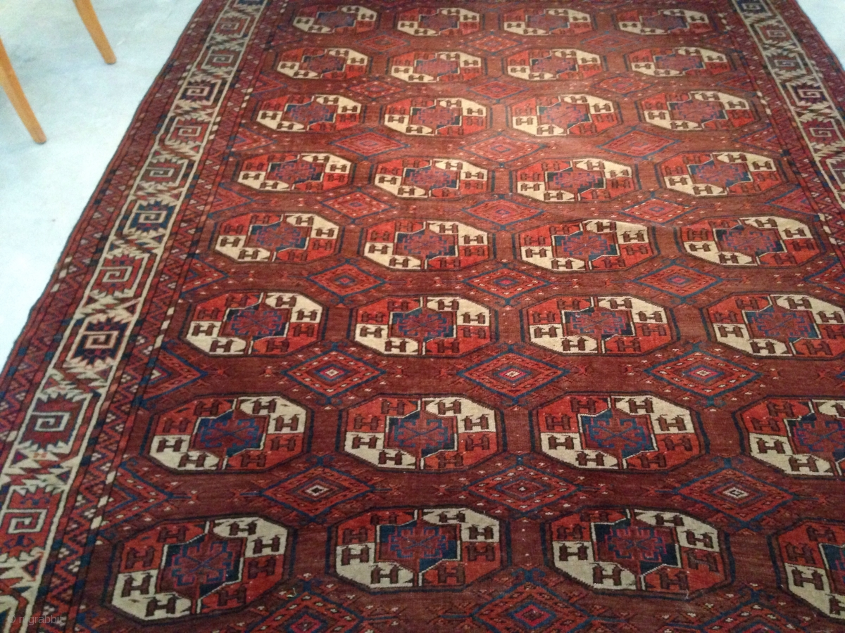 Yomud rug size 200x343 cm need to wash good price ask for What size rug do i need