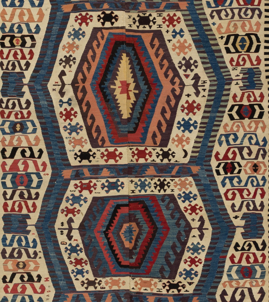 Afyon Kilim, 5 By 12 Ft (151x372 Cm), Ca 1800 Or Older, As
