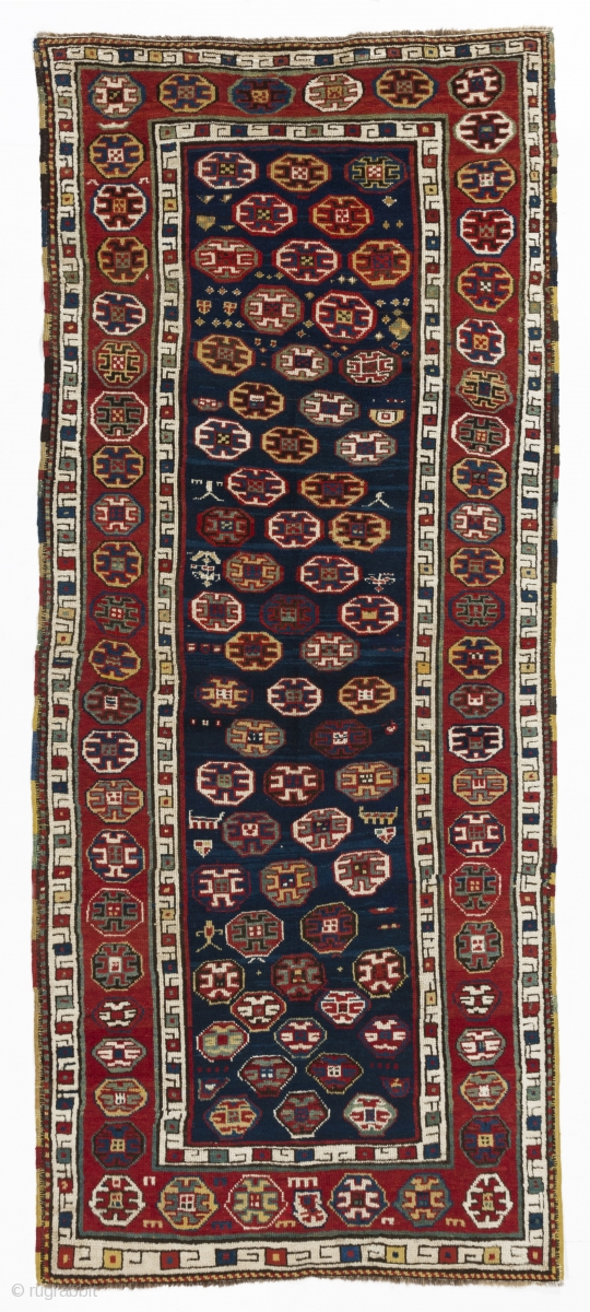 South Caucasian Long Rug 111x264 Cm 44x104 Inches No