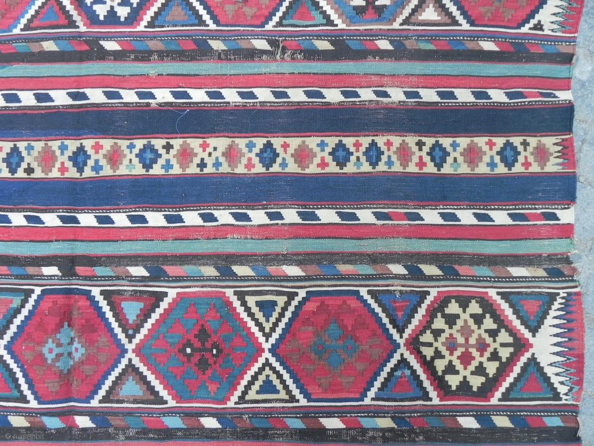 Antique Caucasian Shirvan Kilim Rug 10 5 X 6 Ft 320x183