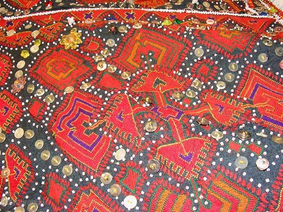 Antique Afghan Pakistan Silk Embroidered Girls Headdress Nuristan Swat Valley No B Rugrabbit Com