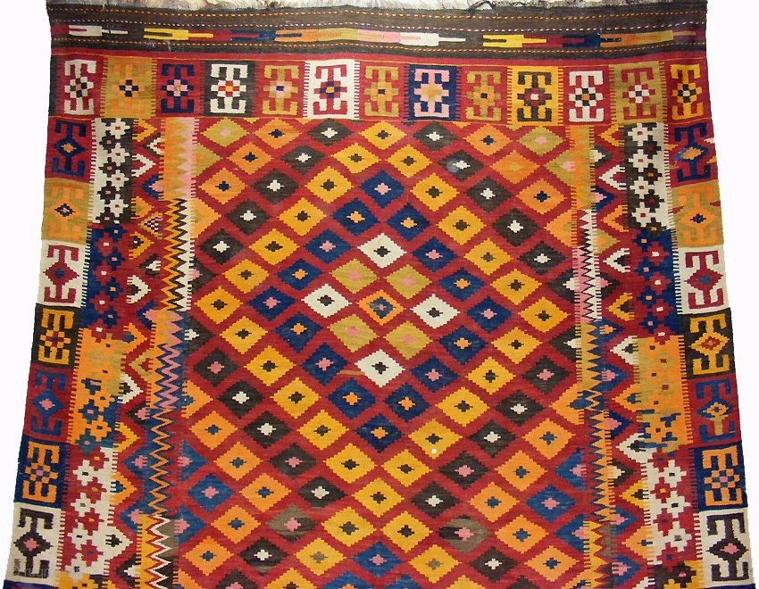 Fabulous Large Vintage Afghan Kilim A Beautiful Example