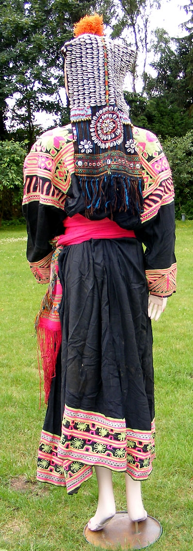 Antique Pakistan Nomadic Tribal Dress Kalash Antique