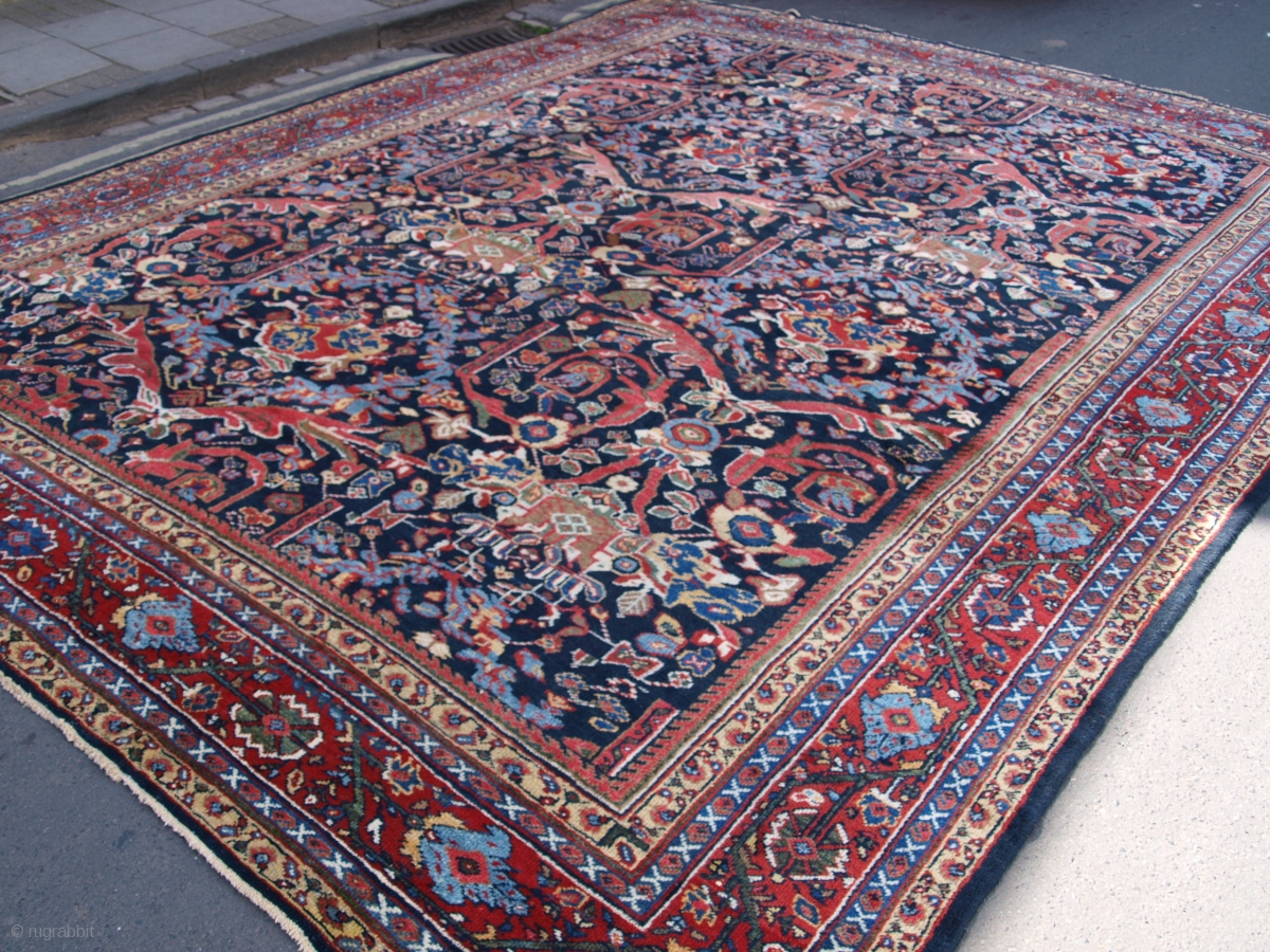 Antique Mahal Carpet Large Sise With Stunning Design