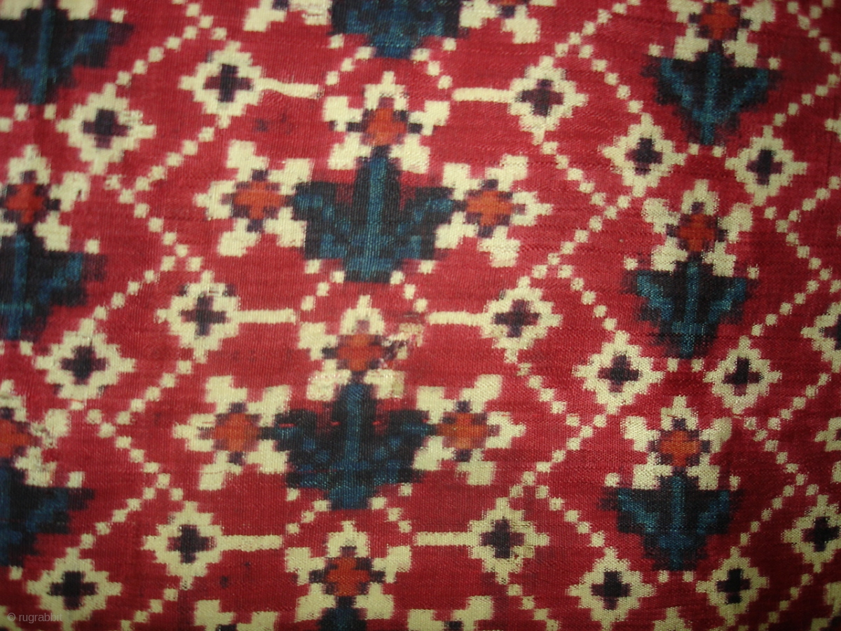 Patola Sari Silk Double Ikat Probably Patan Gujarat This