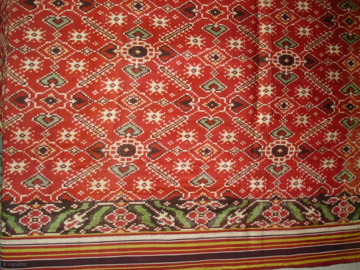 Patola Sari Silk Double Ikat Probably Patan Gujarat India