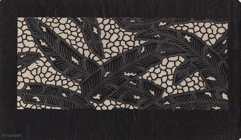 Japanese Paper Stencil Katagami For Textile Dying Early