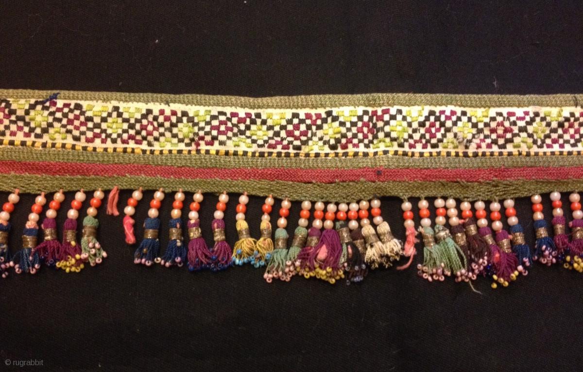 Old Uzbek Silk Tassel Ethnic And Tribal Collectible Tassel