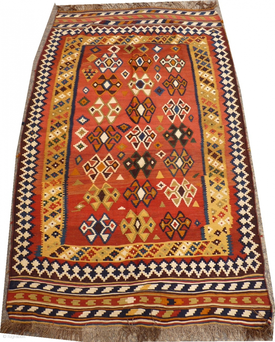 Gorgeous Qashqai Kilim With A Beautiful Range Of Vibrant