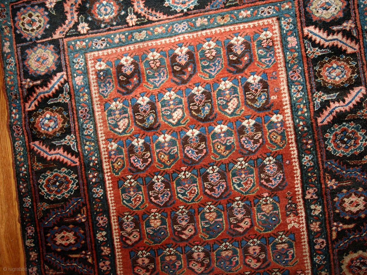 1b435 Hand Made Antique Persian Bakshaish Runner 3 2 X