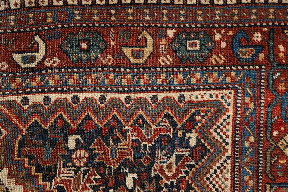 Poetic Khamseh Quot Bird Quot Rug 19th Century Wool On Wool A
