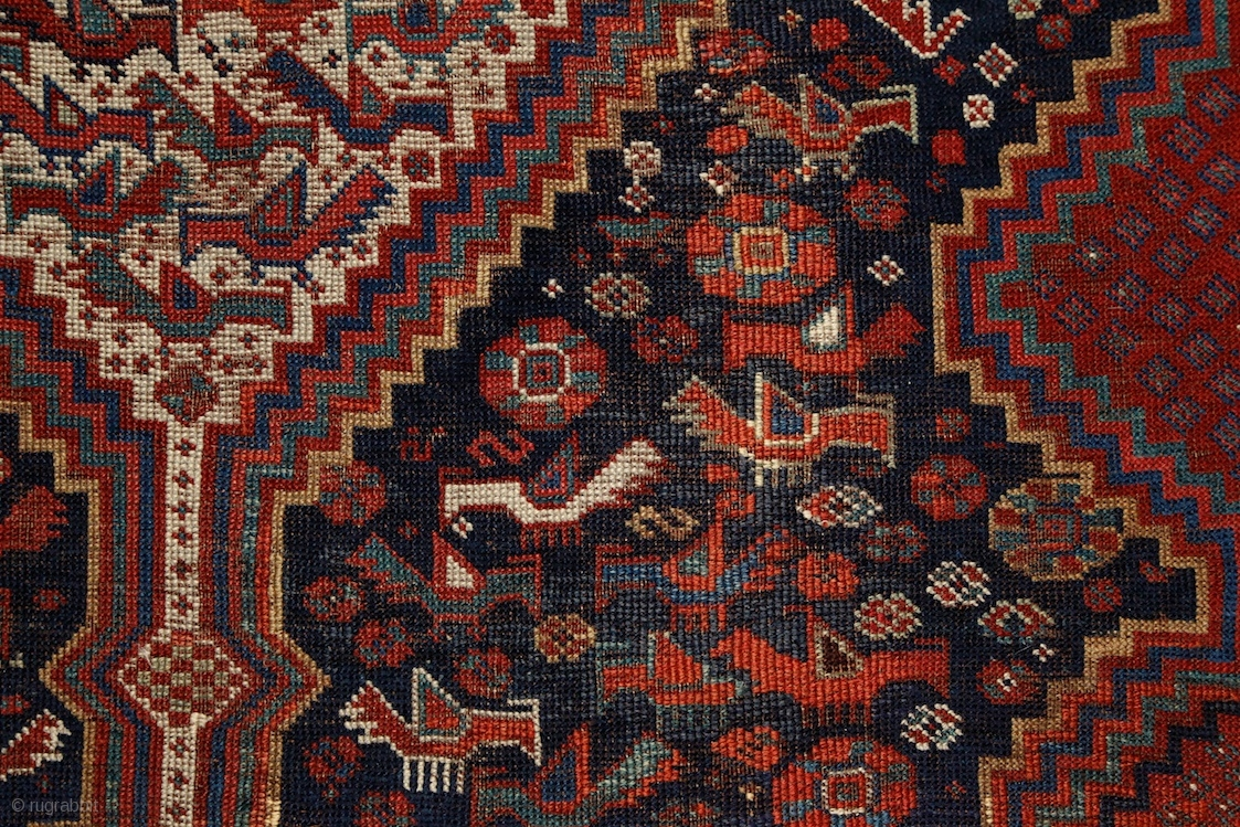 Monumental Khamseh Quot Bird Quot Carpet 380x195 Cm Never