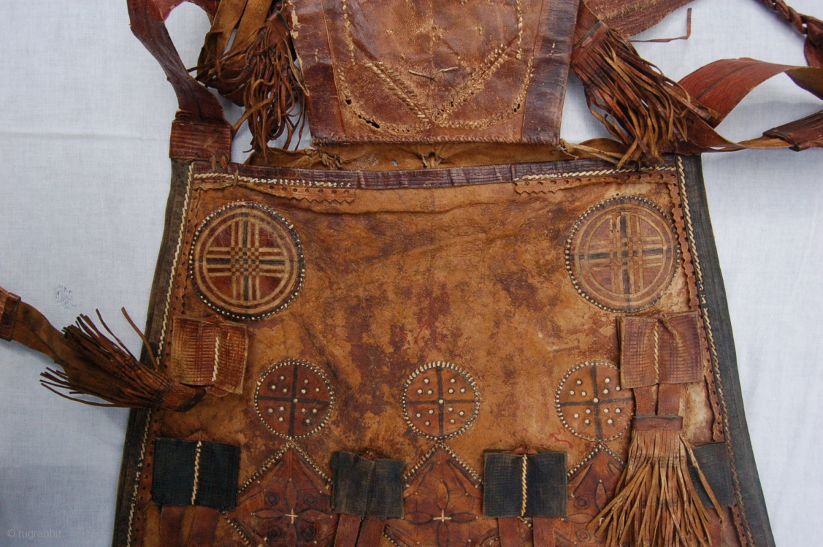 Antique Tribal Malinese Touareq Conical Shaped Leather Bag