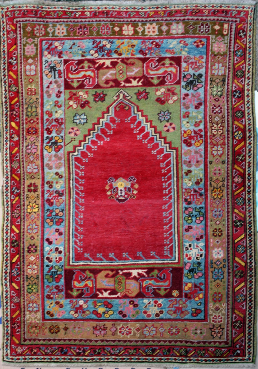 Antique Turkish Mujur Rug Category Antique Origin