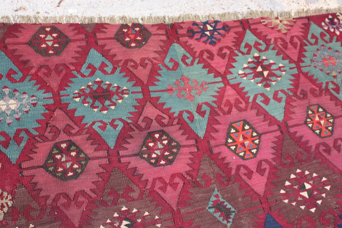Beautiful Antique Turkish Kilim Rug Size Cm 265 X 160