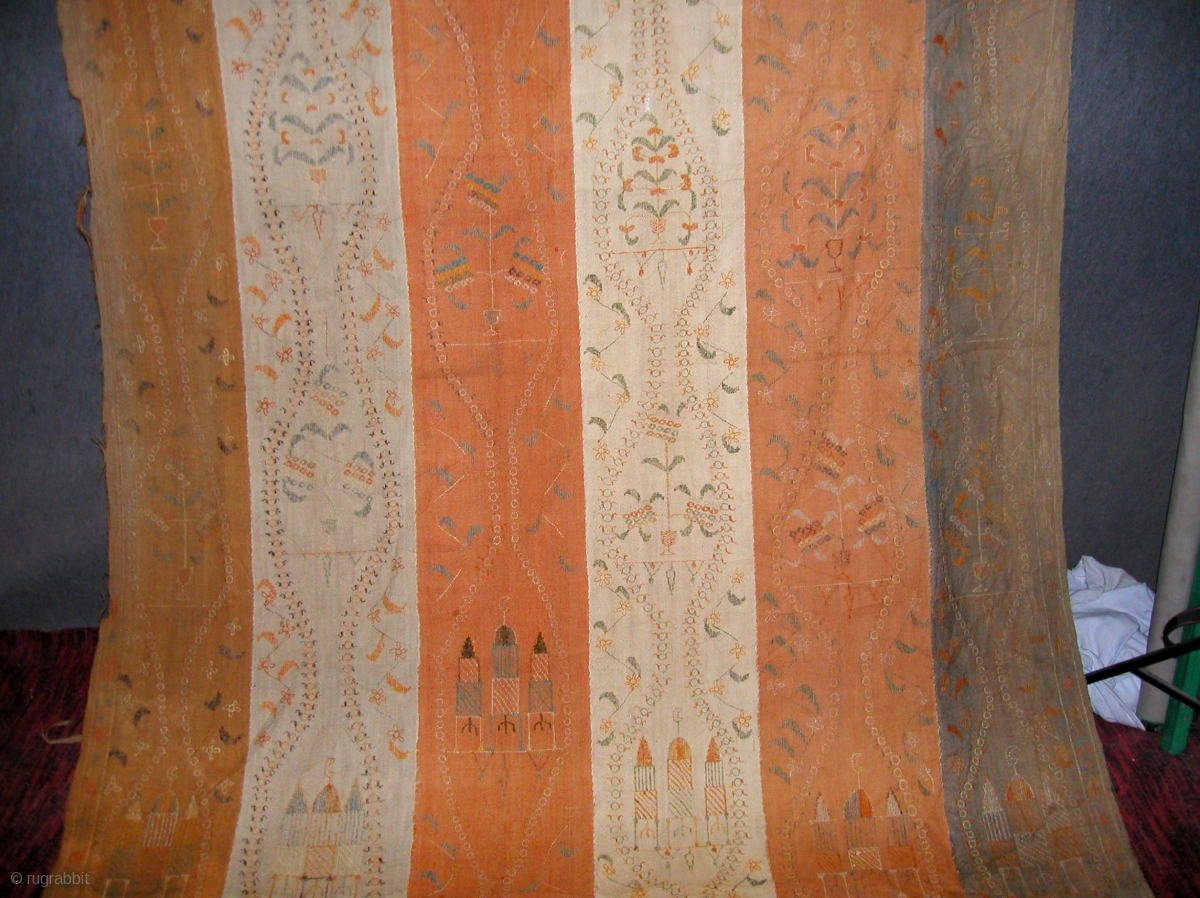 Large Rajistani Wool Embroidery Size 11 Feet 4 Inches