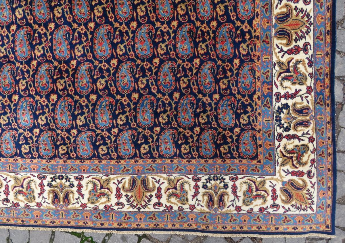 Persian Qoom Carpet Wonderful Parlemant Blue Main Color