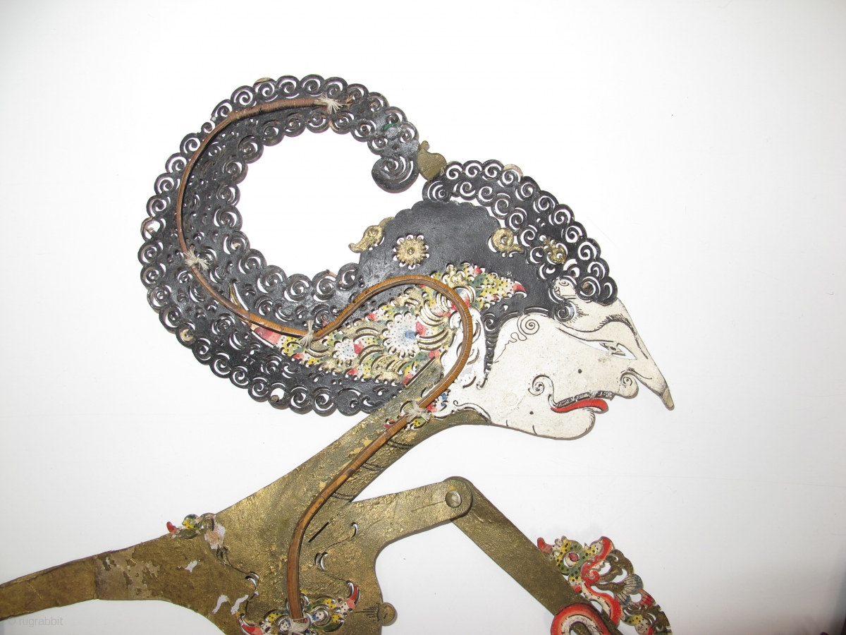 Four Antique Indonesian Shadow Puppets Circa 1900 Size