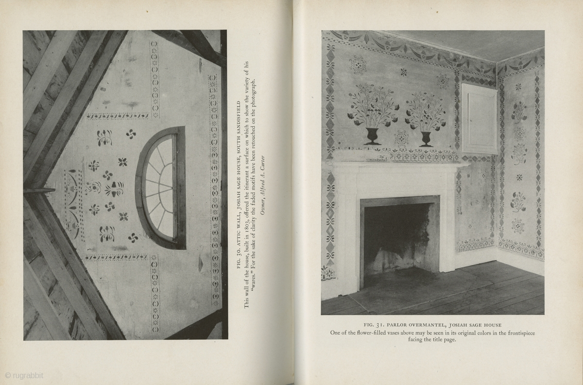 Two Books Early American Wall Stencils By Janet Waring