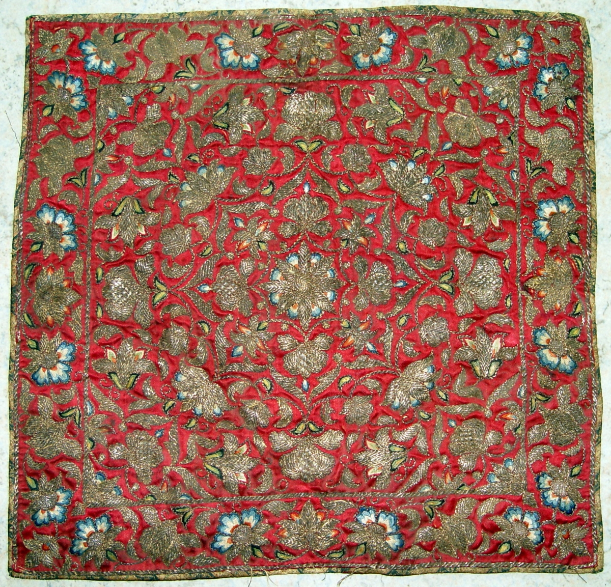 An Antique Persian Silk Embroidery 18th Century With Silk