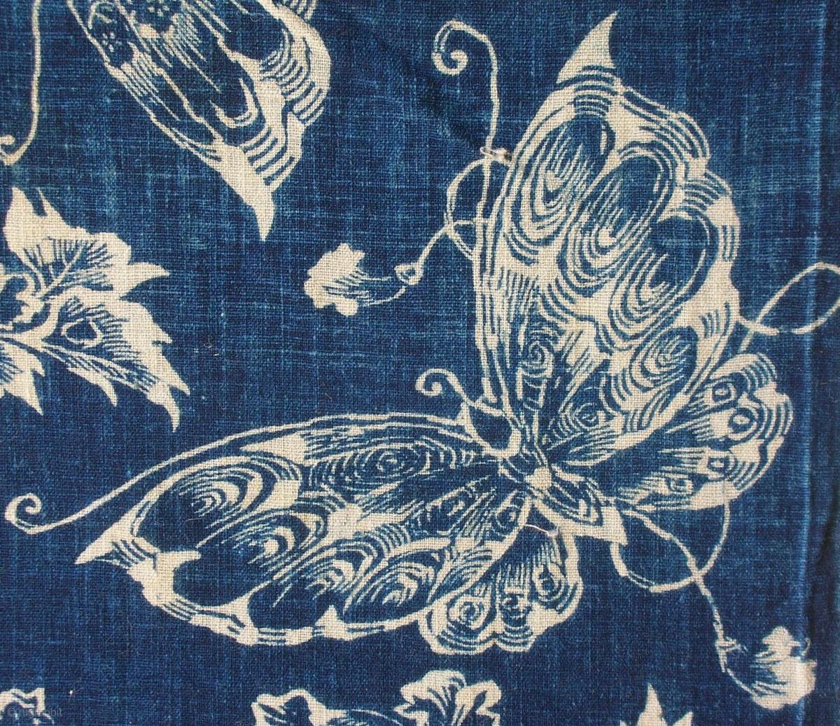 Katazome Panel Japan Early Meiji Circa 1870 Cm75x33