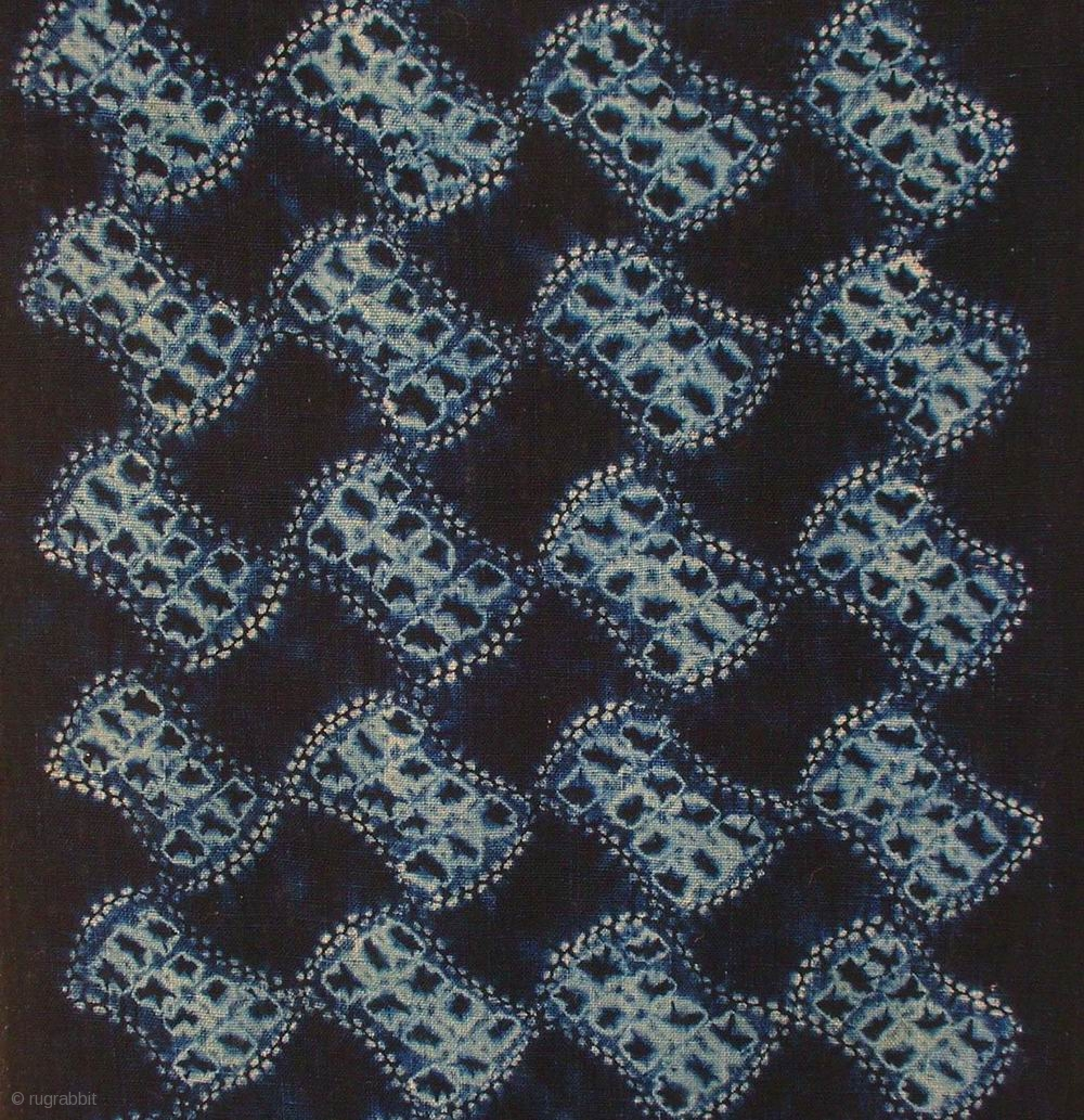 Bundou Tsunagi Shibori Cloth Japan Meiji C 1880