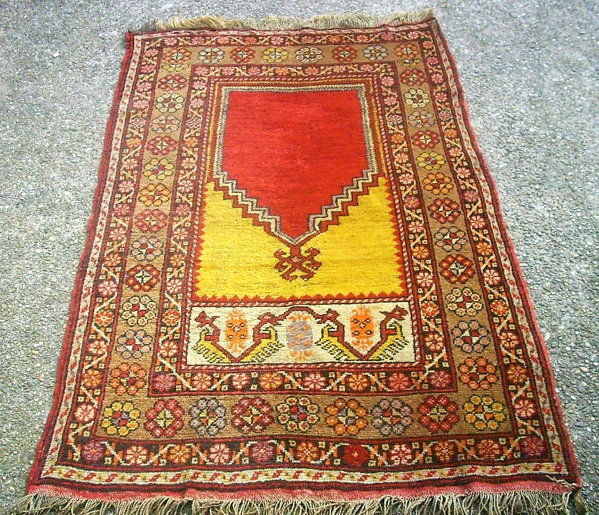 Old Konya Prayer Rug. Size: 100 X 155 Cm. Good Condition