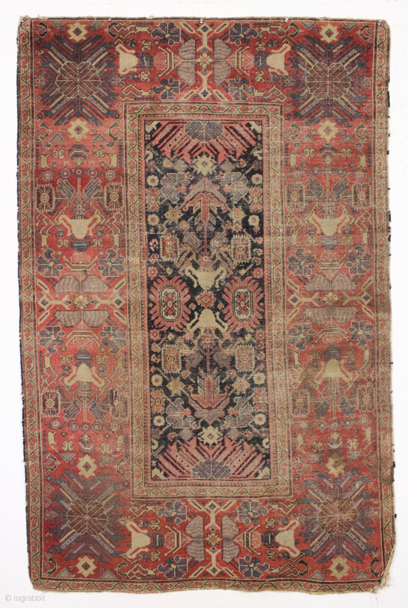 Early Persian Ferahan Rug With An Unusual And Exceptional