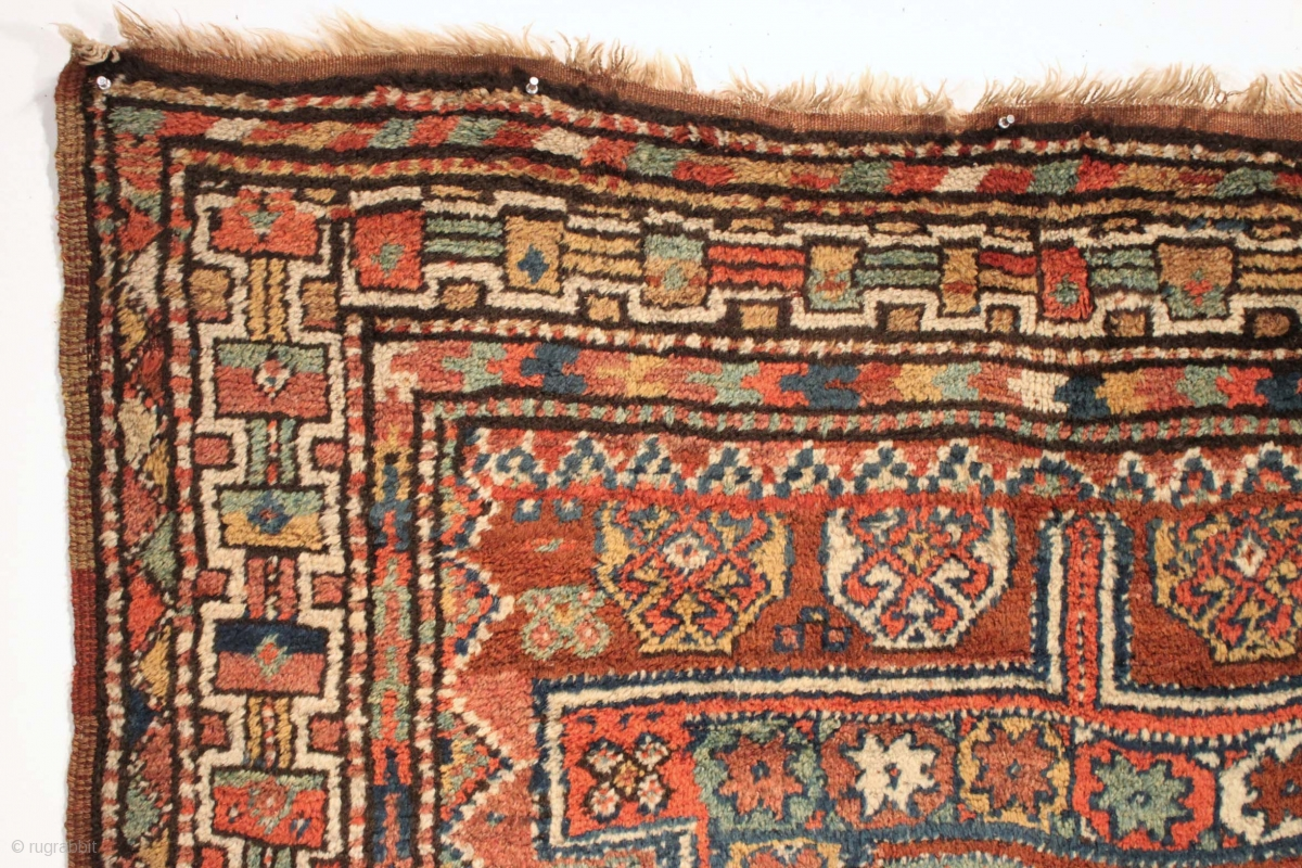 Antique Large Kurdish Rug Thick Meaty High Pile All Good