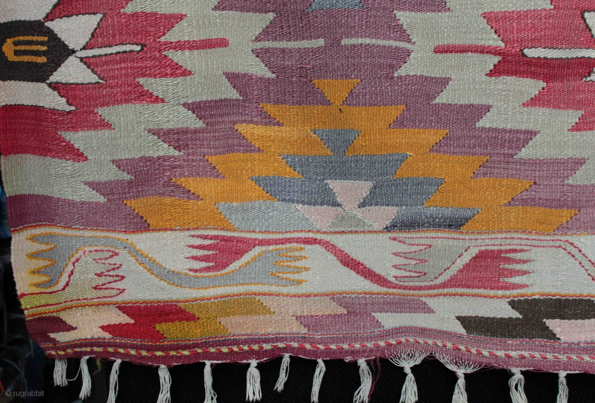An Old Eye Dazzler Manastir Kilim From The Kotel Region