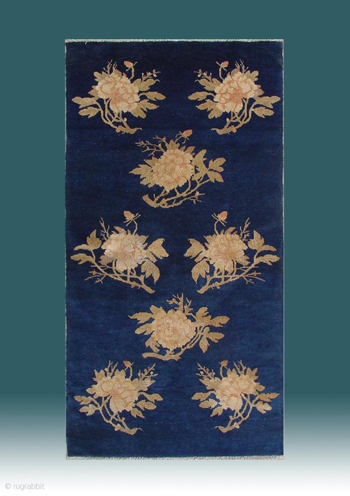 No R028 Chinese Antique Quot Peony Flower Quot Rug Origin