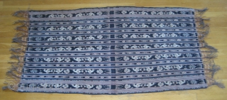 A superb selendang or shawl from Savu Island in Eastern Indonesia. Handspun cotton and natural dyes from the late colonial era.