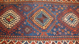 See this striking Kazak rug, 2.50m x 1.25m, on my stand at the London Antique Rug and Textile Art Fair (LARTA) 23 - 28 January.